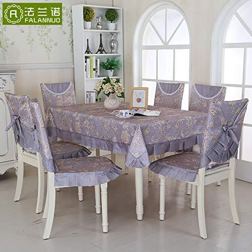 PORCN Mesa de tela paño comedor silla cojín conjunto mesa de ...