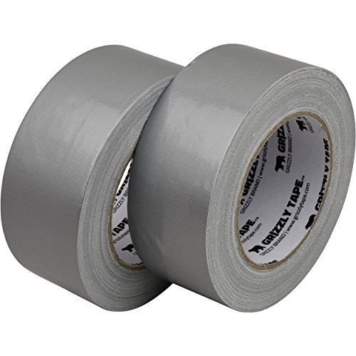 Grizzly Brand Professional Grade Duct Tape, Silver Color Multi Pack, 11mil Thick (1.88 inch x 30 Yards), 48mm x 28m, 2-Pack Rolls by Grizzly Brand