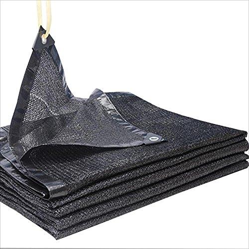 範囲一時解雇する密輸PENGFEI シェードネット サンシェード ターポリン パティオ バルコニー カーポート 日焼け止め 吸熱 バルコニー 屋根の覆い 防塵の エッジパンチング ポリエチレン (色 : ブラック, サイズ さいず : 4x6m)