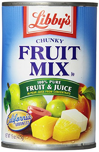 Libby's Fruit Mix -chunky In Pear juices Concentrate, 15-Ounce Cans (Pack of 12)