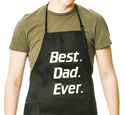 Dad Apron (Funny Guy Mugs Best Dad Ever Apron, Black)