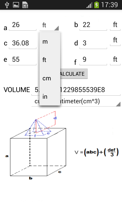 Amazon com: Volume Calculator: Appstore for Android