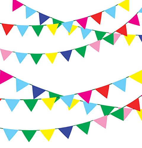 ALEY 750 Feet Multicolor Pennant Banner Flags String,Outdoor Indoor Party Decorations For Grand Opening,Carnival,Wedding,Birthday,Racing Party Celebration - String Pennant Party