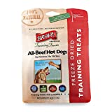 Bravo! Premium Freeze-Dried Training Treats for Dogs, All-Natural Beef Hot Dog, My Pet Supplies