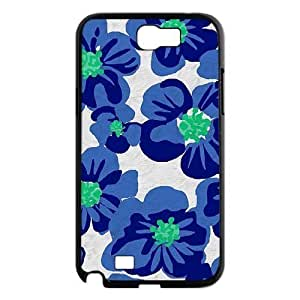 Blue Flowers Brand New Cover Case for Samsung Galaxy Note 2 N7100,diy case cover ygtg612019