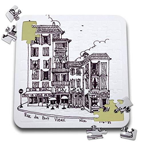 Vieux Port - 3dRose Danita Delimont - France - Rue du Port Vieux in Nice, France - 10x10 Inch Puzzle (pzl_313147_2)