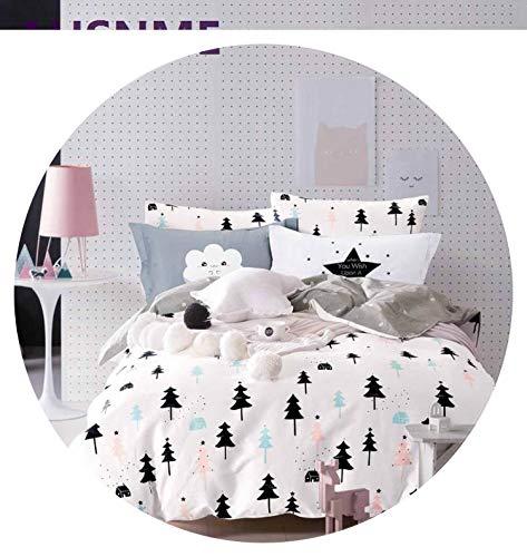 100% Cotton Bedlinen Luxury Bedclothes King Queen bedcover Cactus Pine Duvet Cover Pillowcase Bedding Set,6,USA Twin 3pcs