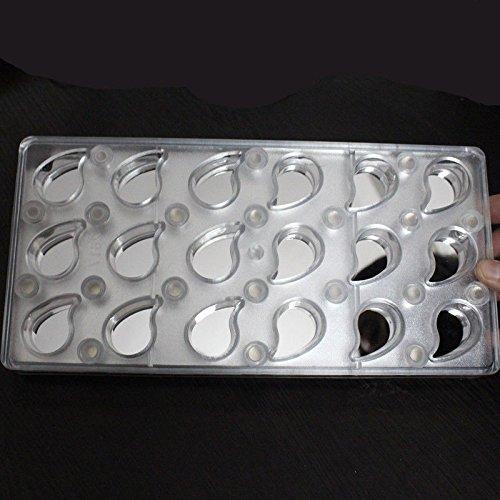 Media Luna Coma imán magnético plástico Transferencia del moho policarbonato PC Chocolate molde DIY hecho a mano bombones: Amazon.es: Hogar