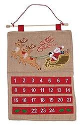 Christmas 24 Day Hanging Burlap Advent Calendar | Colorful...