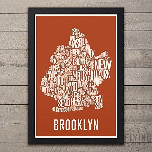 Brooklyn (NYC) Neighborhood Map Print