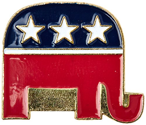 Republican Pin Elephant (US Flag Store Republican Lapel Pin)