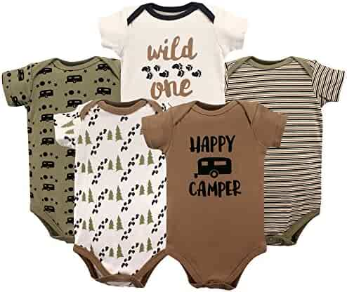 Luvable Friends Baby Girls' Cotton Bodysuits
