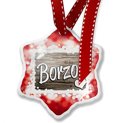 Christmas Ornament Borzoi, Dog Breed Russia, red - Neonblond