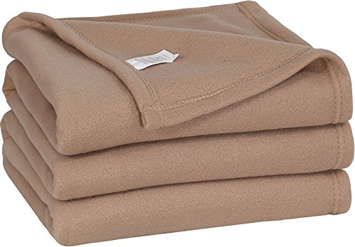 King Polar Fleece Thermal Blanket Tan