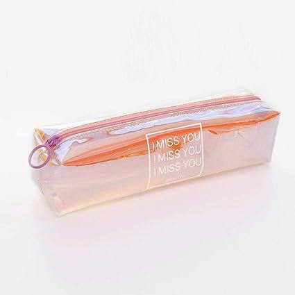 Lápiz de PVC de gran capacidad, caja de lápices transparente ...