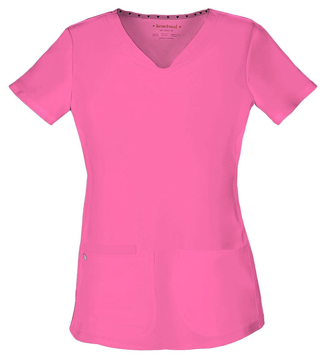 HeartSoul Women's Pitter-Pat Shaped V-Neck Top_Pink Party_XXX-Large,20710