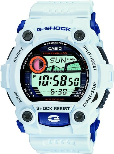 Watch Time World 200m G-shock (Casio Men's G7900A-7 G-Shock Rescue White Digital Sport Watch)