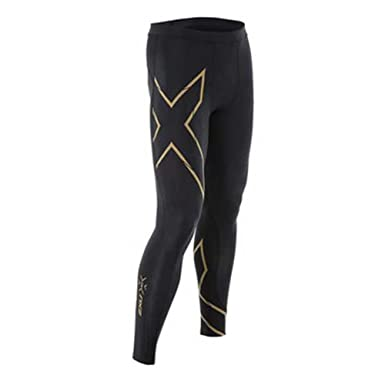 5a529a51b1cb9 2XU Men's MCS Run Compression Tights, Black/Gold, 2X-Large: Amazon ...