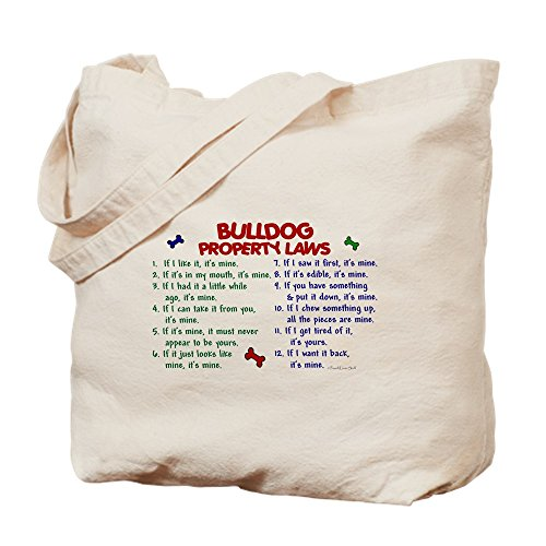 Canvas Bulldog Tote Bag Cloth 2 Laws CafePress Natural Property Shopping Bag fqw4FH