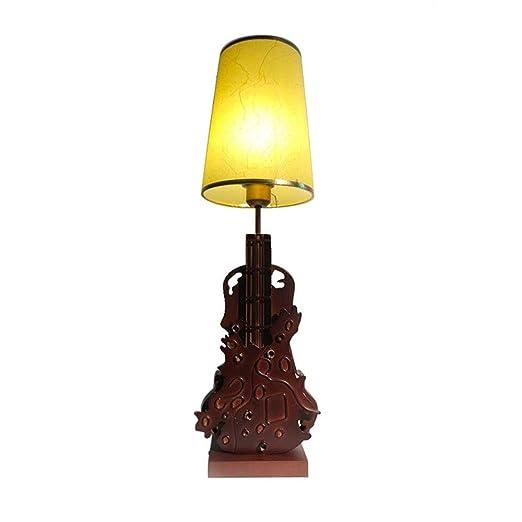GUANCY Lámpara De Mesa Antigua En Forma De Violín Lámpara De Mesa ...