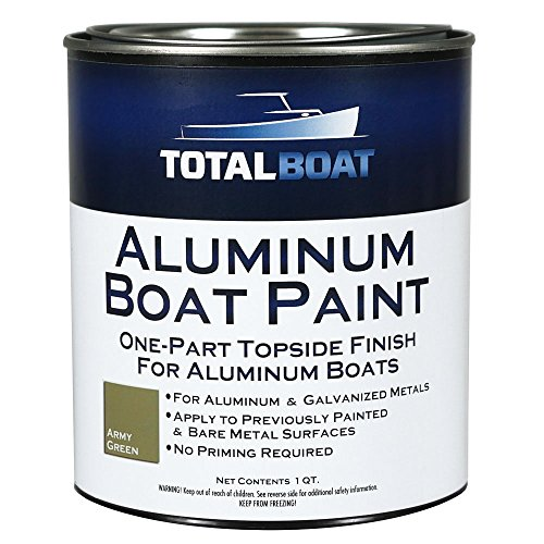 Jon Boat Cover - TotalBoat Aluminum Boat Paint (Army Green, Quart)