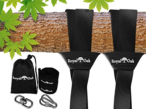 EASY HANG (8FT) TREE SWING STRAP X2 - Holds 4400lbs. - Heavy Duty Carabiner - Bonus Spinner - Perfect for Tire and Saucer Swings - 100% Waterproof - Easy Picture Instructions - Carry Bag Included!