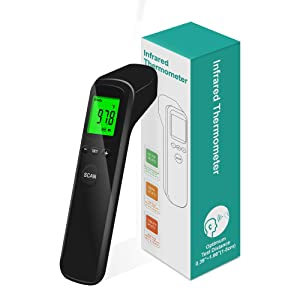 Digital Thermometer with Instant Accurate Reading, Fever Alarm and Memory Function 3 in 1 Digital LCD Display for Adults and Kids Baby(Colour Black)