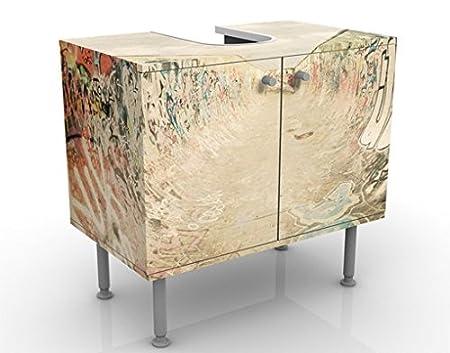 Apalis Mobile per lavabo Design Streaky I 60x55x35cm mobiletto Regolabile Basso Mobile da Bagno Larghezza: 60cm lavandino mobiletto da lavandino lavabo mobiletto da lavabo Bagnetto Bagno