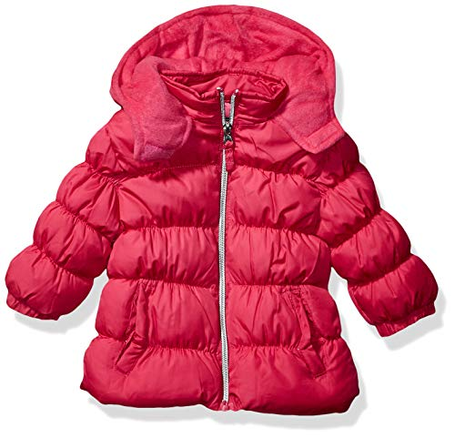 Cherokee - Kid's Outerwear Baby Girls Quilted Heavy Puffer, Fuchsia, 12M