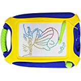 Magnetic Doodle Board, Colorful Drawing Board, Erasable Sketching Pad for Toddlers, Toys for Writing Painting and Learning (Travel Size)