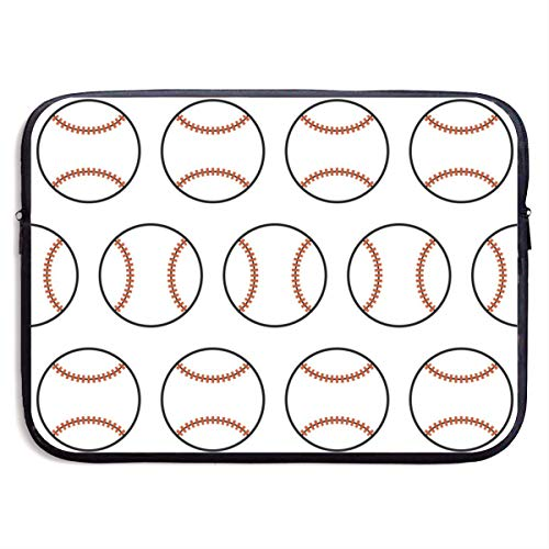 (Baseball Seamless Pattern With Sport Balls Laptop Carrying Case Netbook Bags 13in And 15in Waterproof Anti-Static Handbag Sleeve Messenger File Cover For Lenovo HP IPad MacBook Pro,Laptop Bags)