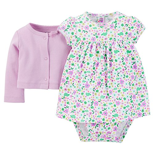 Carter's Just One You Baby Girls' Floral 2-Piece Dress Set - Purple (9 Months )
