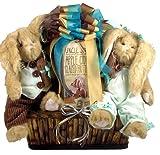 Silly Bunny Elegant Easter Gift Basket