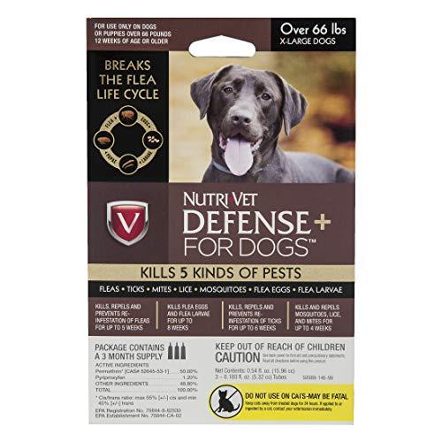 Nutri-Vet Defense Plus Flea & Tick Control for XL Dogs
