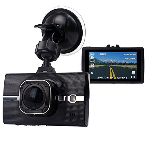 """160 4 Channel Dvr (SMALL-EYE Dash Cam, On Dash Video Car Driving Video Recorder Camera with Full HD 1296P, 170 Degree Wide Angle, 3"""" LCD Screen, G-Sensor, WDR, Loop Recording, Night Vision)"""