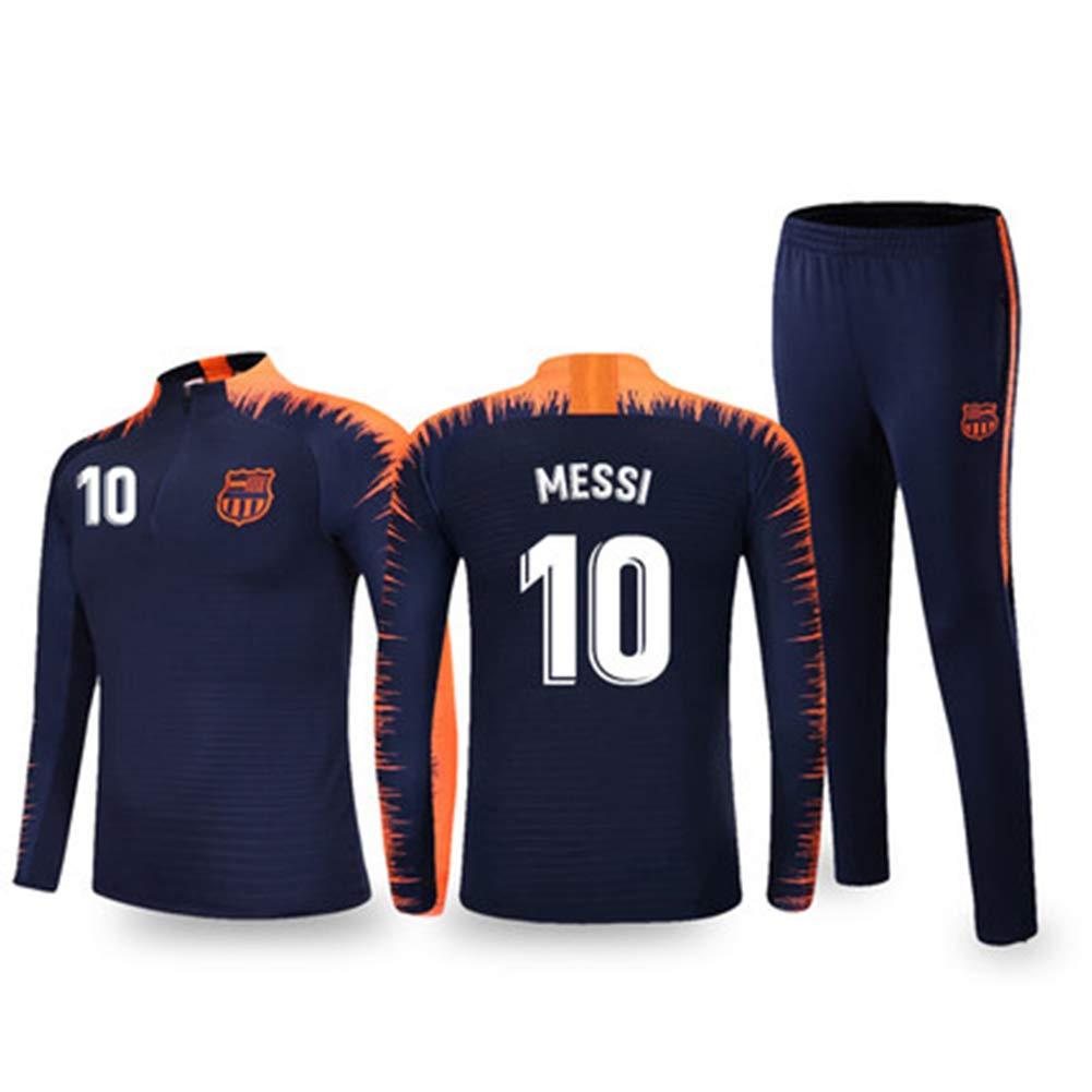 HS-FWJ.HW Futbol Club Barcelona Lionel Messi NO.10 Trainingsanzug 2019//20 Herbst Und Winter Langarm-Hosen Fu/ßball-Uniform Erwachsene Kinder Sport Anzug,2XL175~180cm65~75kg