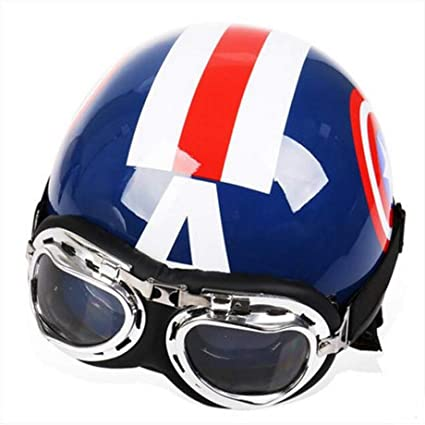 Amazon.es: Capitán América Harley Casco de la Motocicleta abs ...