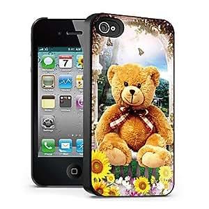 ZXM-Patrón del oso caso el efecto 3D para iphone4/4s