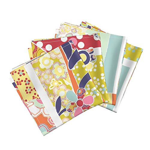t Organic Sateen Dinner Napkins Spring Hare Cheater Quilt (Yard Sized) by Ceanirminger Set of 4 Cotton Dinner Napkins made by ()