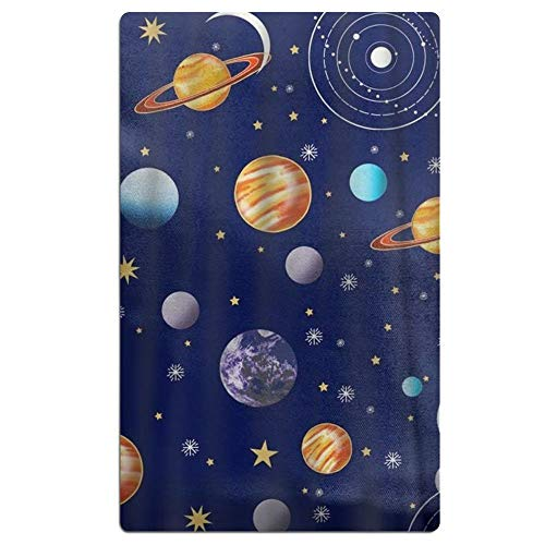 LOIOI67 Navy Planets Solar System Microfiber Quick Dry Beach Towel Bath Towel Pool Towel Perfect for Boys Girls by LOIOI67