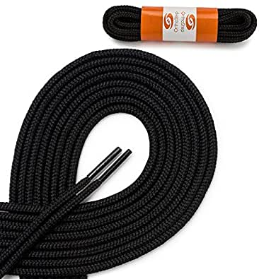 OrthoStep Round Athletic Black 24 inch Shoelaces 2 Pair Pack