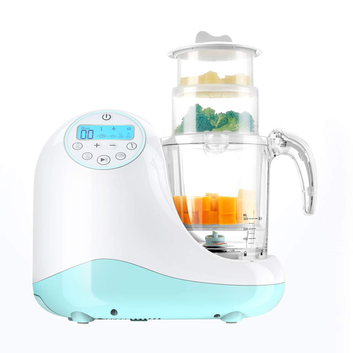Baby cook 5 in 1 Baby Food Processor, Steam Cooker, With Blending, Mixing & Chopping, Sterilizing and Warming & Reheating Function, Make Organic Food for Infants and Toddlers, Includes 3 Baskets