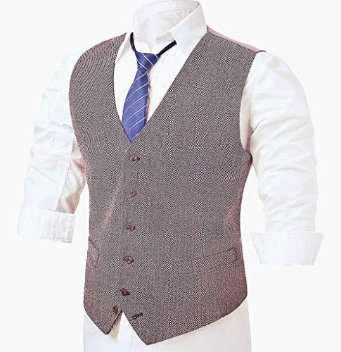 Nner Fête Costume Haidean Hommes Fit Mariage Hellviolett Gilet Moderne De Slim Brown Casua Tuxedo Blazer YYx7rU