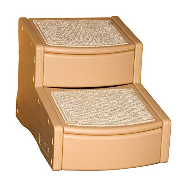 Pet Gear Easy Step II Pet Stairs, 2 Step for Cats/Dogs up to 150 Pounds, Portable, Removable Washable Carpet Tread 1