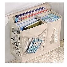 Gobuy Bedside Sofa Caddy Oxford Fabric Storage Bag Accessory TV Remote Book Organizer Box