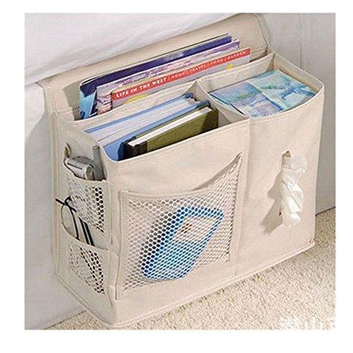 Gobuy Bedside Sofa Caddy Oxford Fabric Storage Bag Accessory TV (Girl Caddy)