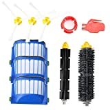 Replacement Accessories Kit for Roomba 600 Series 600 620 630 650 655 660 680- Includes 3 Pack Filter and Side Brush, 1 Pack Bristle Brush and Flexible Beater Brush, 2 Pack Cleaning Tool