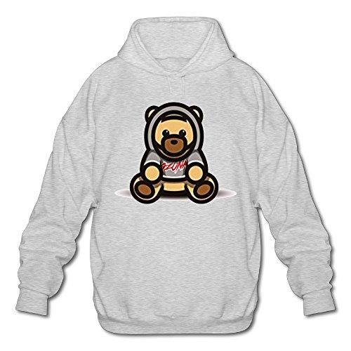 Mens Ozuna Singer Sweatshirt Quick Drying Sports Activities Hoodie Sweater Ash L