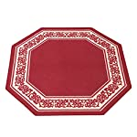 Collections Etc Floral Border Octagon Rug