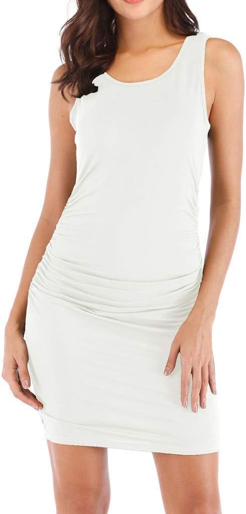 Vestidos para Mujer, Sexy Moda Fiesta Vestido Elegante Slim Fit Vestido de Noche Verano Casual Vestidos Cortos Hueco Sexy Simple Color sólido Vestido de cóctel vpass: Amazon.es: Ropa y accesorios